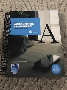 NAIT Accounting Principles textbook for sale