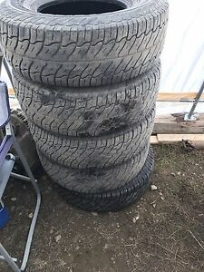 Two sets of Lt truck tires