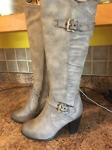 Grey boots for sale