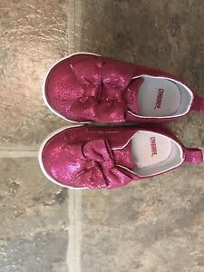 Pink sparkly shoes. Toddler girl.