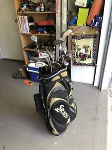 Golf Clubs, TaylorMade metal, Bridgestone Driver, Srixon Bag!
