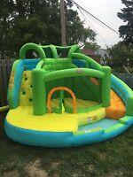 Rent me.  Bouncy /water slide