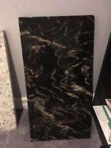 Assorted granite slabs