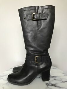 TOWN SHOES - Ladies 9 - Dark Grey Heel Boot - Never Worn