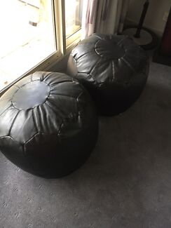 Leather foot stools
