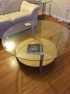 Glass Top Coffee Table & End Tables