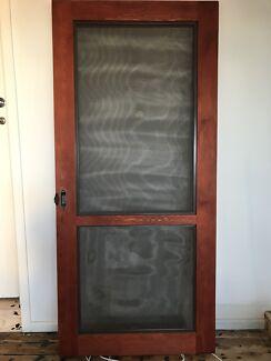 SUPER CHEAP - Discounted 2 x Slide screen doors. $40.00. Footscray & Magnetic mesh screen door   Other Home \u0026 Garden   Gumtree ...