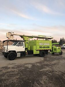 55' Forestry Bucket Truck / Chipper Truck with Southco dump box
