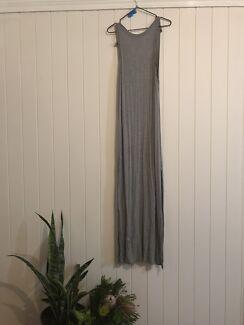 Grey backless maxi (extra long)