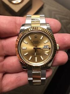 2016 Two Tone  Date Just II 41mm Champagne