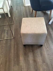 Modern Crate & Barrel Fabric Ottoman
