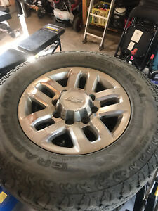 2016 Chev 3500 factory rims and tires for sale