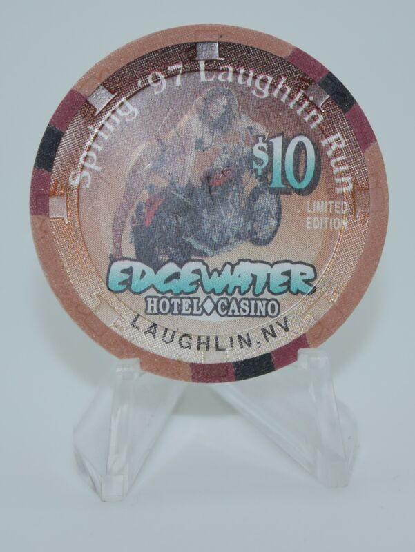 Edgewater $10 Casino Chip Laughlin Nevada 1997 H&C Paul-son Mold