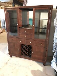 Dining room hutch display cabinet