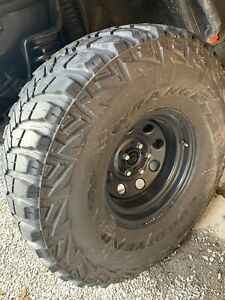"35"" Goodyear Wrangler MT/R tires and rims"