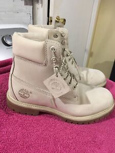 Timberland Boots (Off White) Size 8 Mens
