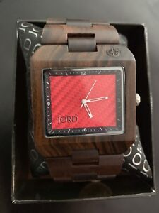 JORD Wood Delmar Red Watch