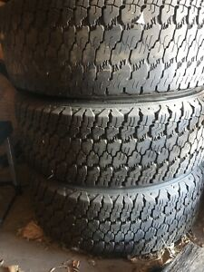 6 bolt Chevy truck rims with goodyear tires  265/70r17
