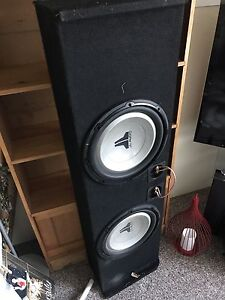"""2 12"""" JL subs in box"""