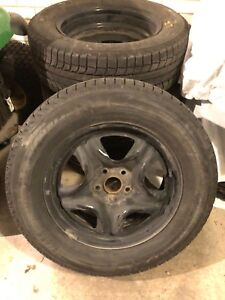 Winter Tires and steel rims for Toyota Sienna