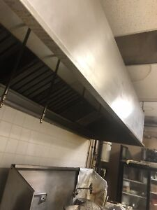 Restaurant steam table hood sink tables