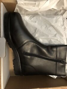 Canadian Made Black Leather Winter Dress boot New