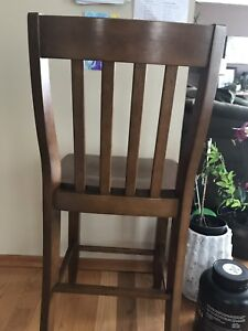 Counter height chair (solid wood) 2pc