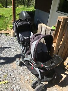 Double / sit and stand stroller