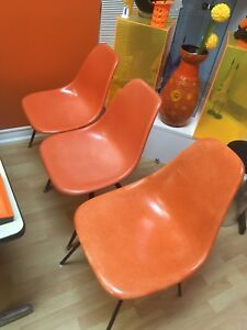 Vintage Fiberglass Shell Chairs-All 3 $75
