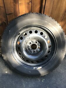 Set of Blizzak WS80 winter tires on rims 225 60 R 17