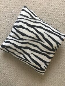 Plush Zebra Throw Pillows
