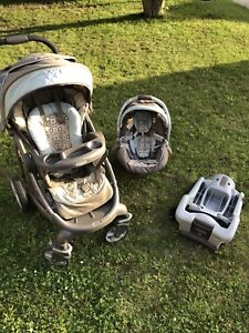 GRACO stroller, base & car seat, poussette, base & coquille