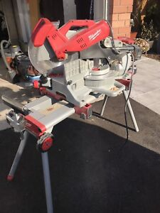 Milwaukee sliding compound miter saw with stand