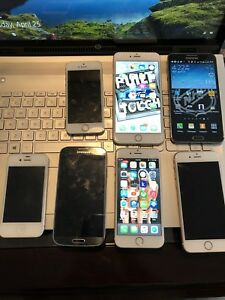 A abundance of iPhone and Samsung's for sale