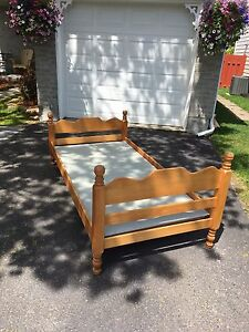 Solid maple single bed frame