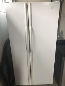 Maytag white side by side refrigerator