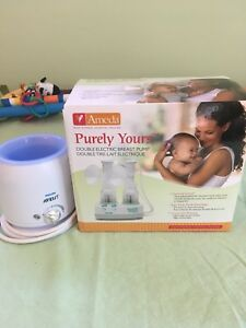 Ameda breast pump and bottle warmer