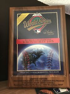 1992 World Series Program signed by Pat Borders