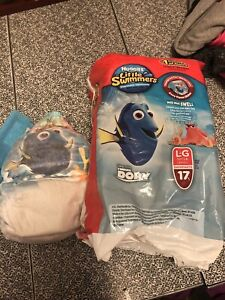 Swimming diapers size large