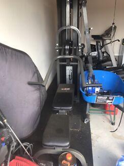 Avanti gym set and treadmill