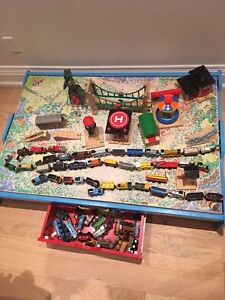 Thomas the train trundle table + trains + more...