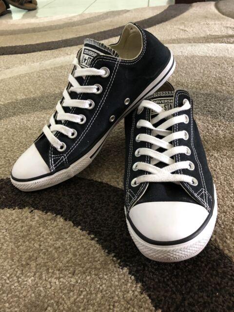 7e30f02384ca Women s thin sole converse black and white size 7.5