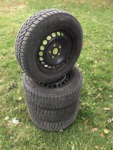 Volkswagen Golf Jetta winter tires and wheels 195/65-15 pneus