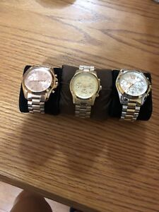 Authentic MK watches.