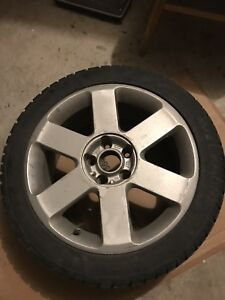 17 INCH Audi OEM wheels with winter Tires Size 225/45/17