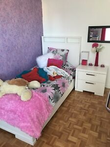 Set de chambre lit simple fille