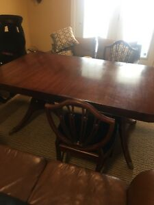 Antique Dining room table, chairs, and pad