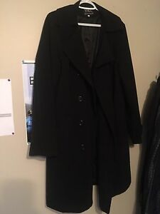 Men's Black wool coat xxxl