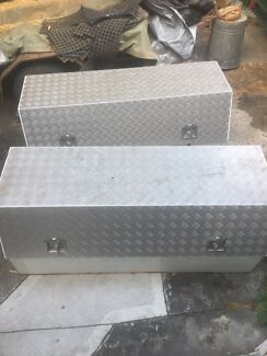 Two steel tool boxes