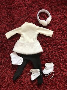"Ice-skating Outfit for American Girl or Other 18"" Dolls"
